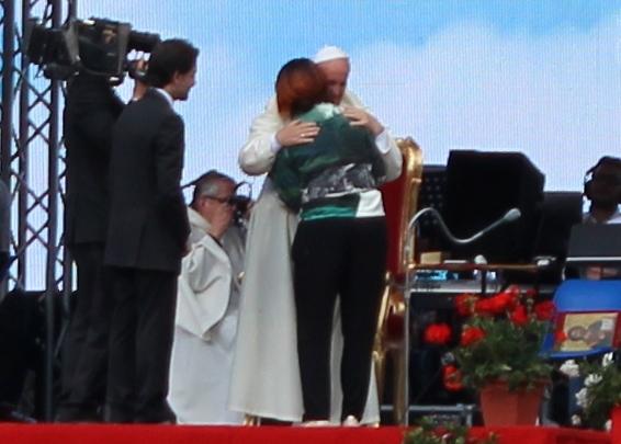 Francesca abbraccio